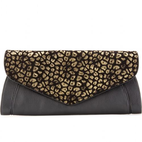 See by Chloé Clutch mit Animalprint Schwarz