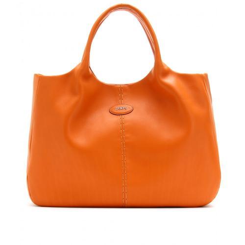 Tod's 24H Shopping Media Ledershopper Gelb/Orange/Rot