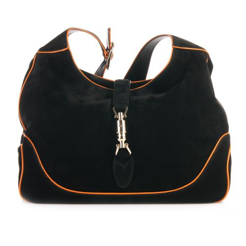 Gucci Shoulder Bag Jackie Black and Orange