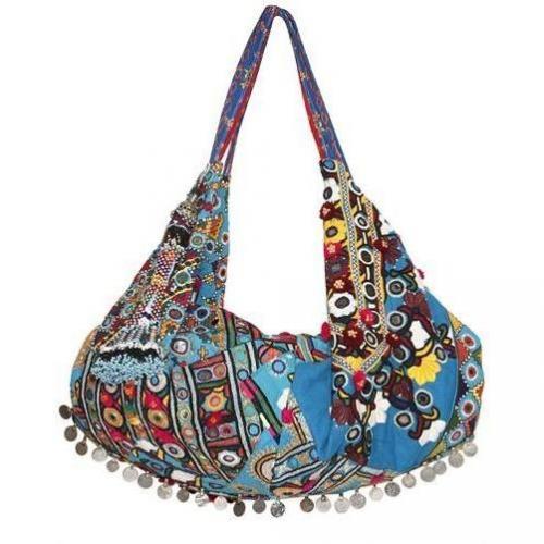 Simone Camille - Moon Bag Vintage Textile Umhängetasche