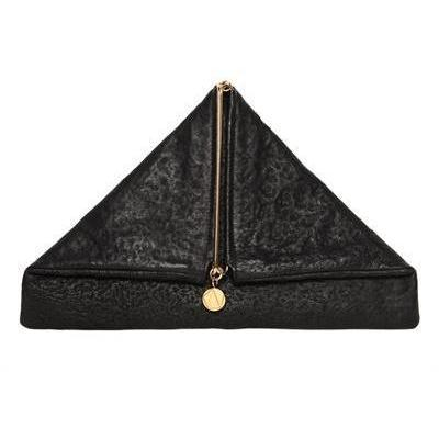 Simone Rainer - Triangolar Nigredo Leder Clutch