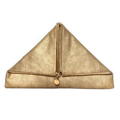 Simone Rainer - Triangular Rubedo Leder Clutch