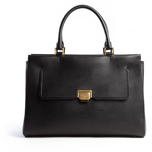 Smythson Black W1 East West Tote