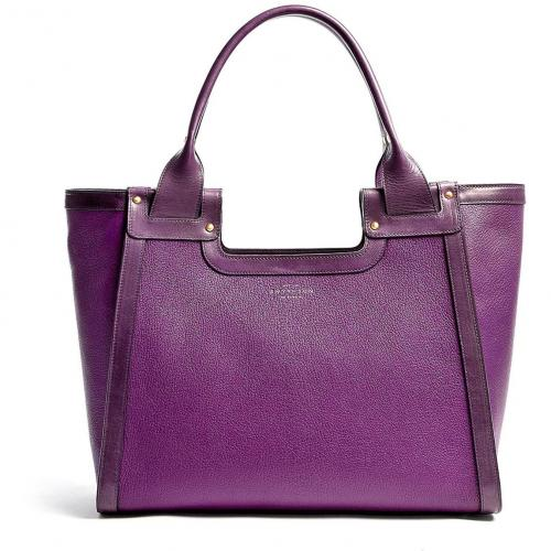 Smythson Violet Cooper Leather Tote