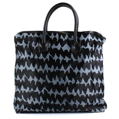Steffen Schraut NYC Big Fur Shopper Grey/Black