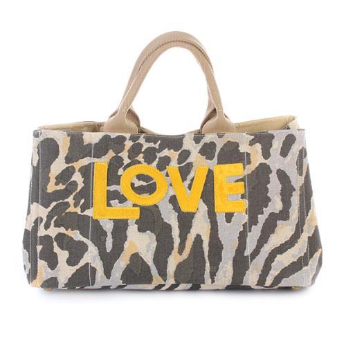 Steffen Schraut Playa Printed Canvas Bag Jungle