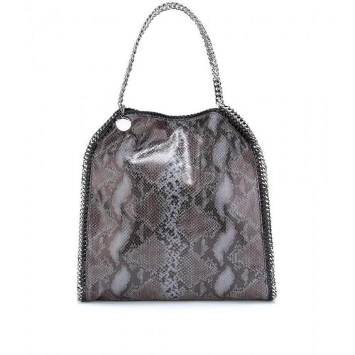 Stella McCartney Falabella Large Snake-Print Schultertasche Teal