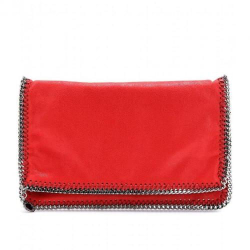 Stella McCartney Falabella Shaggy Deer Fold-Over Clutch