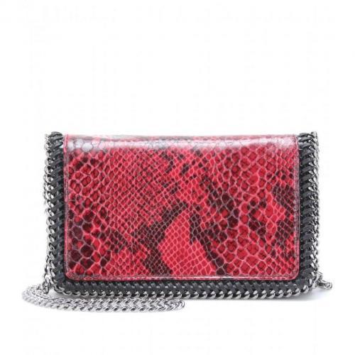 Stella McCartney Falabella Snake-Print Mini-Schultertasche