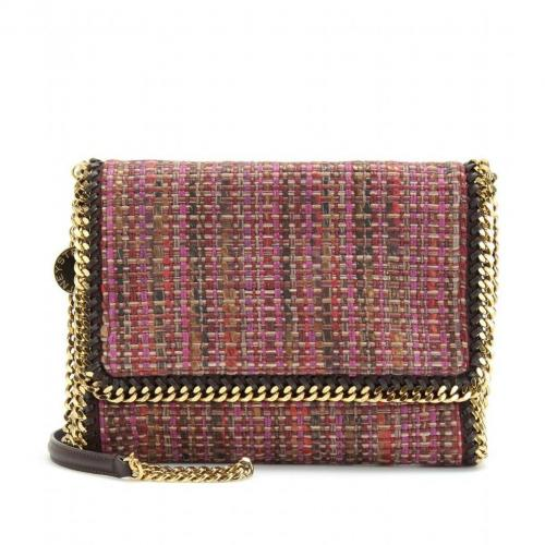 Stella McCartney Falabella Woven Fold-Over Tasche Fuxia
