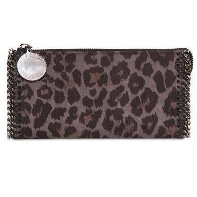 Stella McCartney - Leopard Druck Faux Wildleder Brieftasche