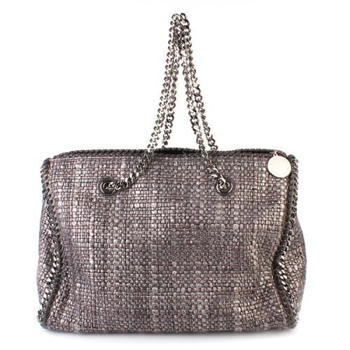Stella McCartney Falabella Metal Boucle Boston Bag Silver