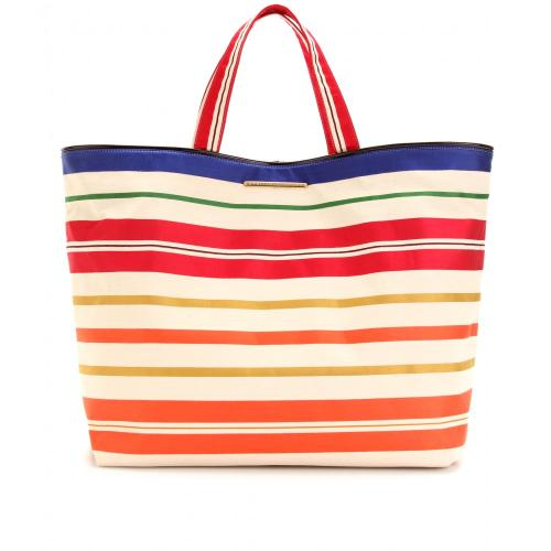 Stella McCartney Gestreifter Canvasshopper Bunt
