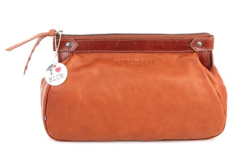 Strenesse Blue Clutch Leather Brown