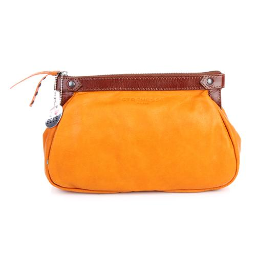 Strenesse Blue Clutch Leather Orange