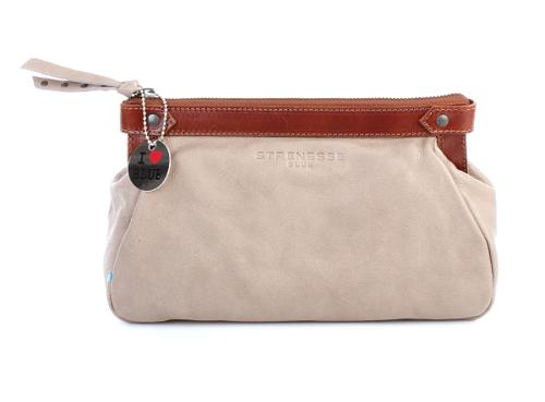 Strenesse Blue Clutch Leather Grey