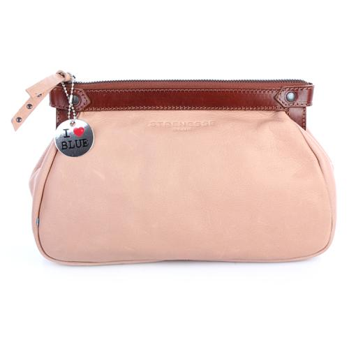 Strenesse Blue Clutch Leather Beige