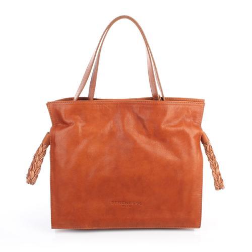 Strenesse Blue Shoulder Bag Leather Braun