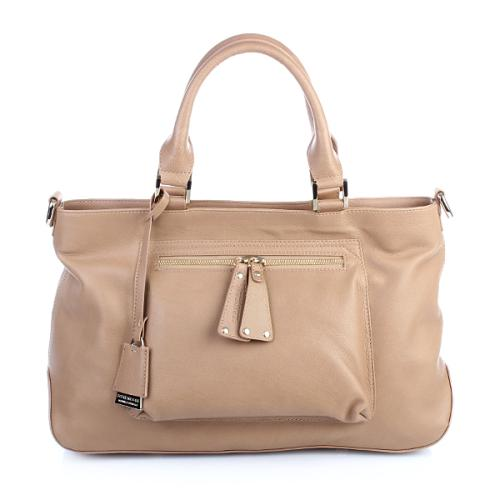Strenesse Tote Calf Leather Small Beige