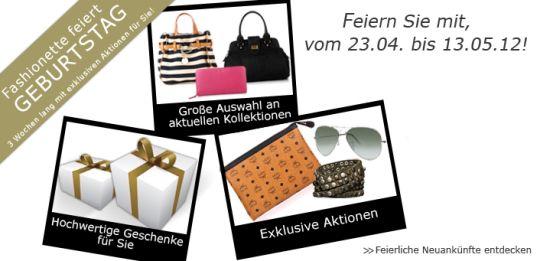 Fashionette feiert Geburtstag - Feiern Sie mit!