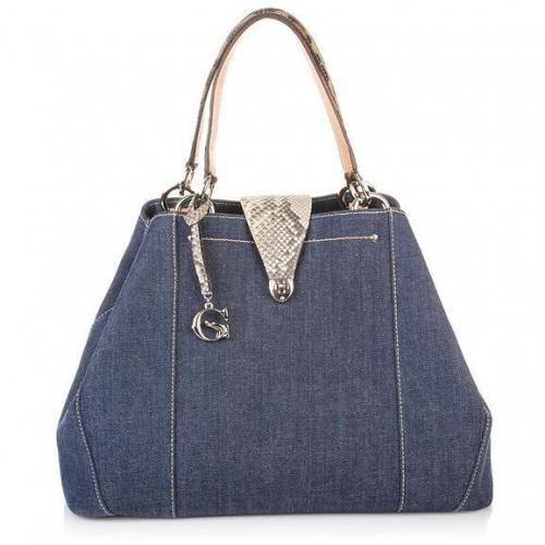 TO BE G Jeans Python Leopard Leather Bag