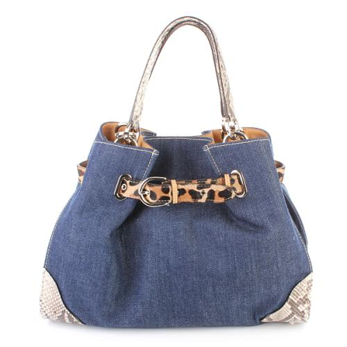 To Be G Ordine Jeans Python Leopard Leather Bag