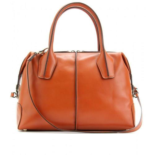 Tod's D-Styling Bauletto Piccolo Ledertasche Burnt Orange