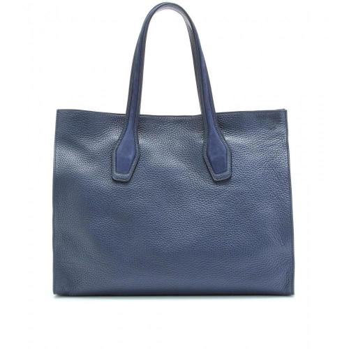 Tod's Shopping Big Ledershopper Blu
