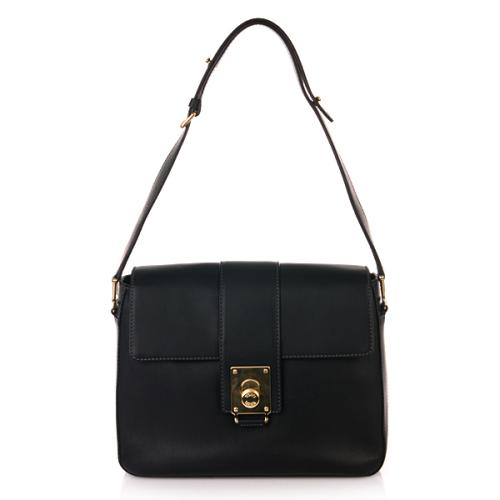 Tod's Fleur Shoulder Bag Black Small