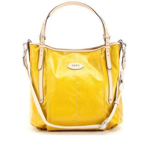 Tod's G-Line Tasche mit Lederhenkeln Gelb
