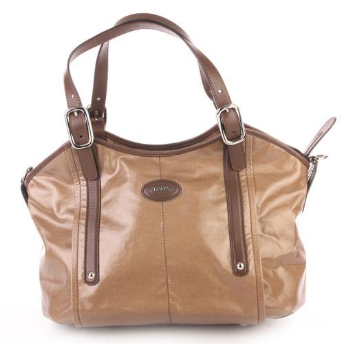 Tod's G-Line Easy Shopping Bag Sagomata Beige Marrone