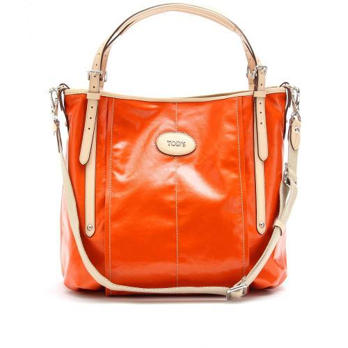 Tod's G-Line Beschichtete Tasche Mit Lederhenkeln Gelb/Orange/Rot