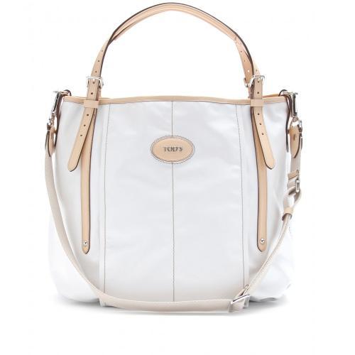 Tod's G-Line Beschichtete Tasche Mit Lederhenkeln Weiß
