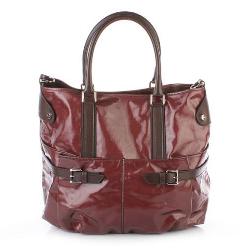 Tod's Handtasche J-Bucket Hobo Medium Rot/Braun