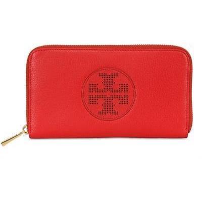 Tory Burch - Kipp Perforierte Zip Continental Brieftasche