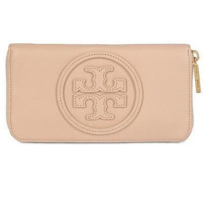 Tory Burch - Pebbled Klassische Leder Logo Brieftasche
