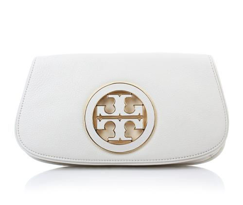 Tory Burch Logo Clutch Bleach