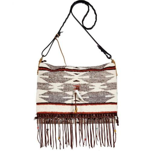 Totem Stone Small Saddle Blanket Fringe Bag