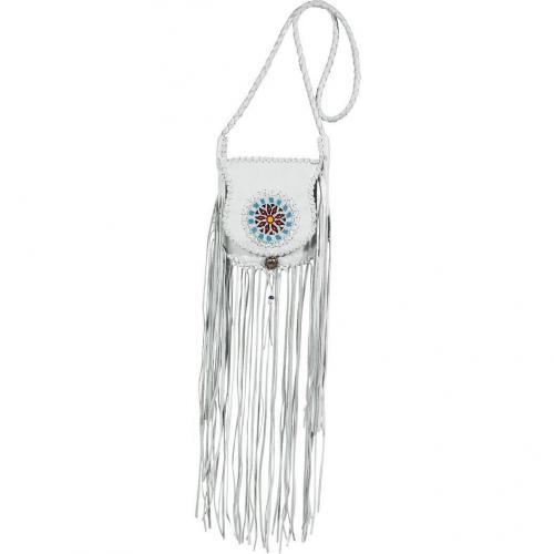 Totem White Pearl Embroidered Fringe Bag