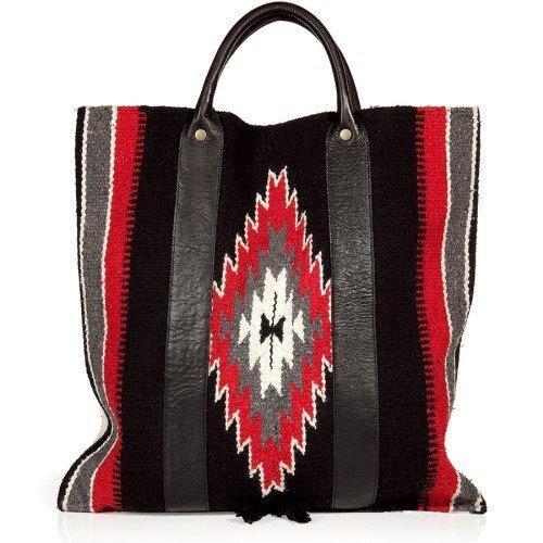 Totem Schwarze und Red Vintage Tote Bag