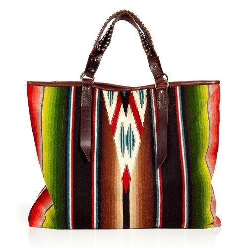 Totem Multicolor Vintage Tote Bag mit Studded Handles