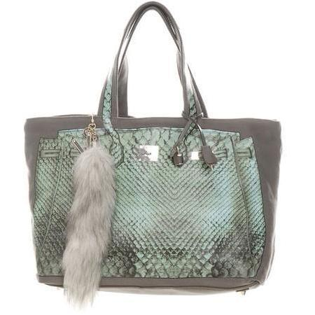 V73 Shopper Luxury taupe-grey Hellblau