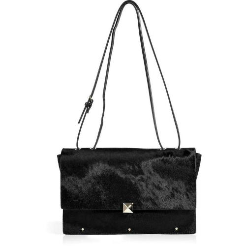 Valentino Black Haircalf Crossbody Bag
