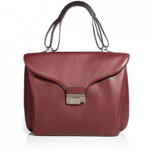 Valentino Burgundy Soft Leather Satchel