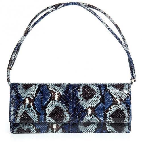 Valentino Navy/Grey Snakeskin Bag with Adjustable Shoulder Strap