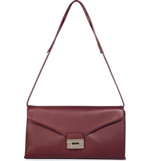 Valentino Oxblood Soft Leder Tasche