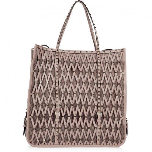 Valentino Powder Mesh-Leather Bag