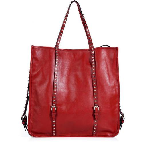 Valentino Red Studded Leather Bag