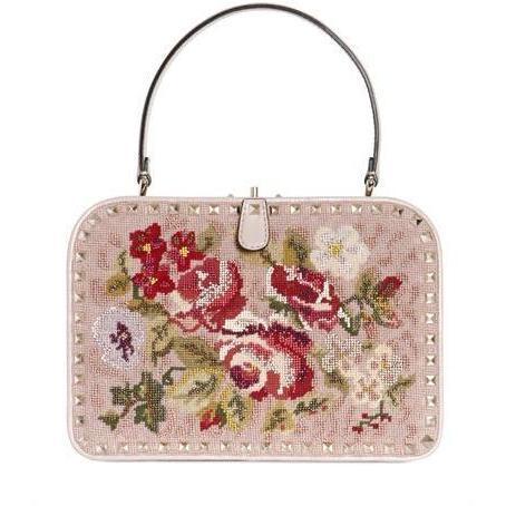 Valentino - Rock Nieten Bestichte Frame Handtasche