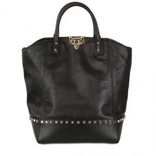 Valentino - Rockstud Matte Leder Handtasche
